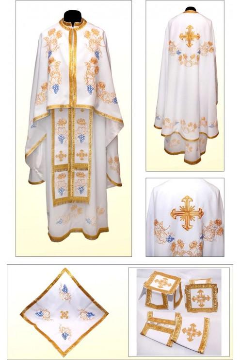 Шати для священників вишиті Ф85 білі фото