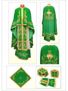 Одеяние для священнослужителей Ф88 зеленое