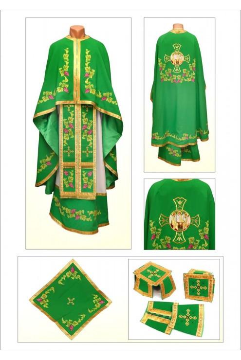 Шати для священнослужителів Ф88 зелені фото