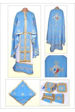 Фелон прикрашений вишивкою ФХ71 голубий фото