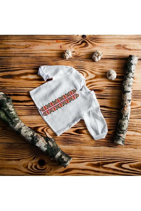 Костюм для крещения украшенный вышивкой ХК 08 фото