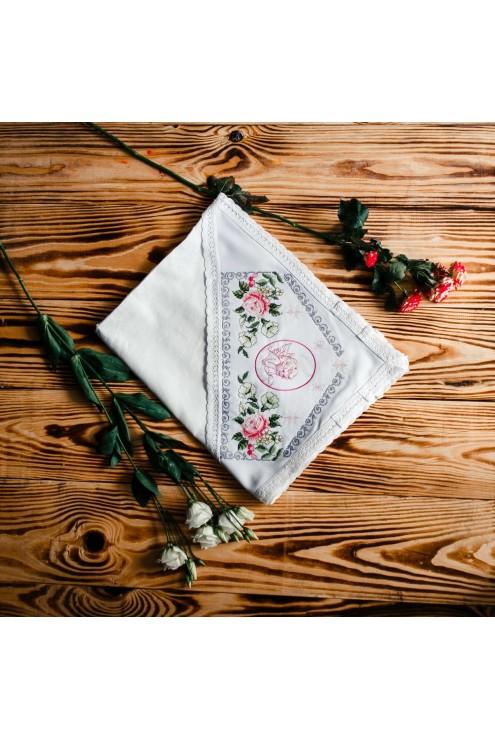 Крыжма крестильная для девочки ХП 01 фото