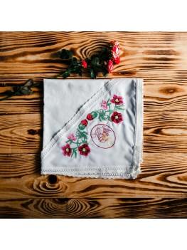Хрестильний рушник для дівчинки ХП 02