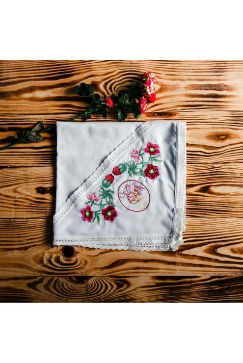 Хрестильний рушник для дівчинки ХП 02 фото