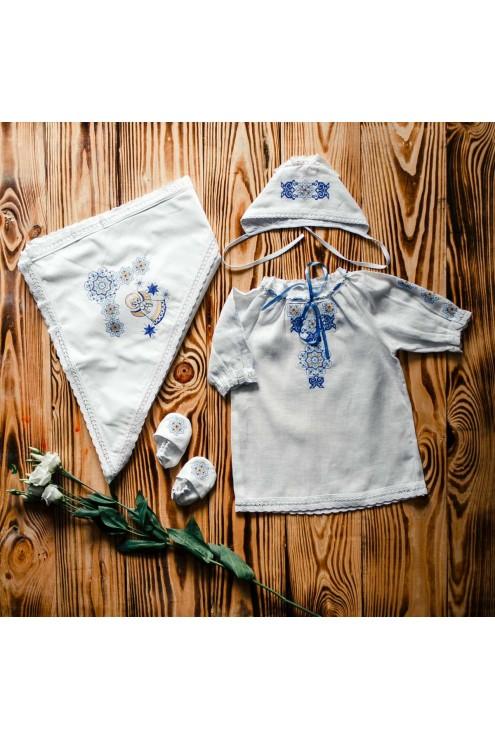 Набір з вишивкою для хрещення ХП 11 с фото