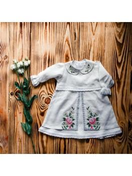 Платье вышитое для крещения ХП 01(2)