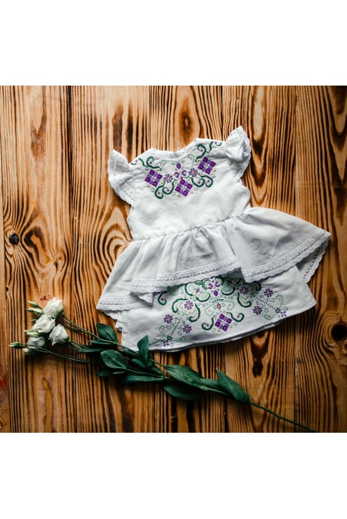 Вышитое платье для крещения ХП 05 фото
