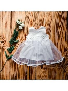 Вышиванка платье для крещения ХП 08 л + ф