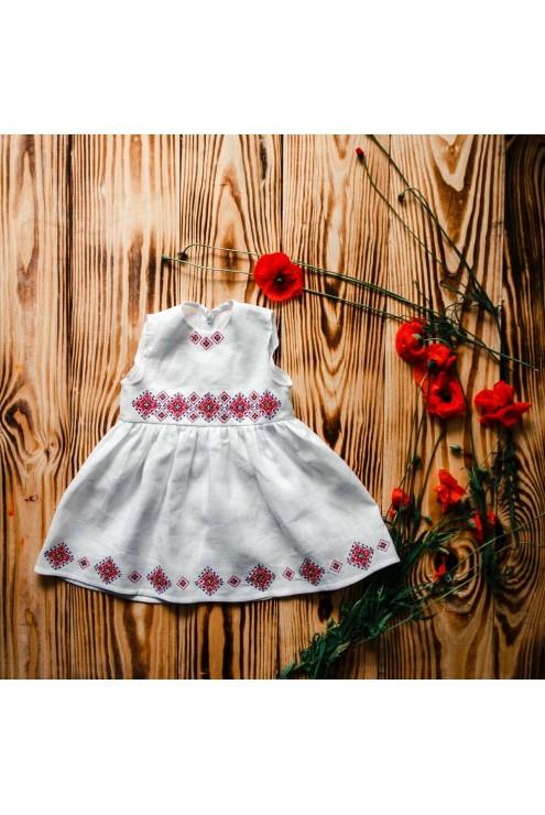 Крестильное вышитое платье ХП 09 фото