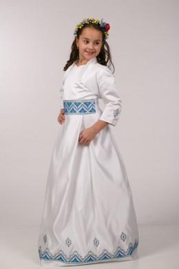 Вышитое платье для причастия ПА 05 фото
