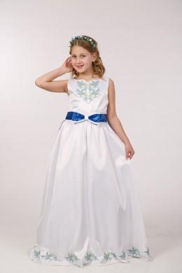 Платье вышиванка для причастия ПА 07С фото