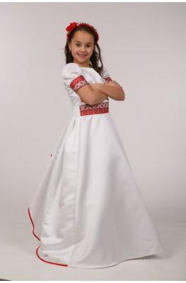 Вышитое платье для первого причастия ПА 16