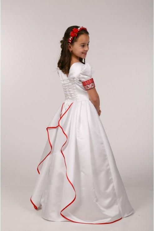 Вышитое платье для первого причастия ПА 16 фото