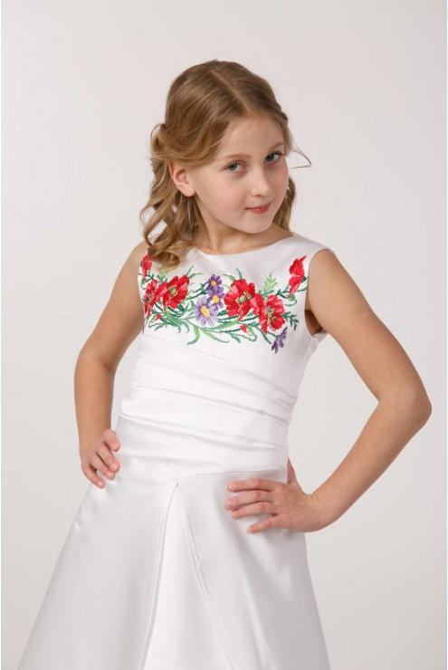 Вишите плаття для першого причастя ПА 18 фото