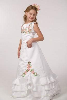 Платье вышитое для первого причастия ПА 19 фото