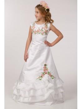 Вишита сукня для першого причастя ПА 19