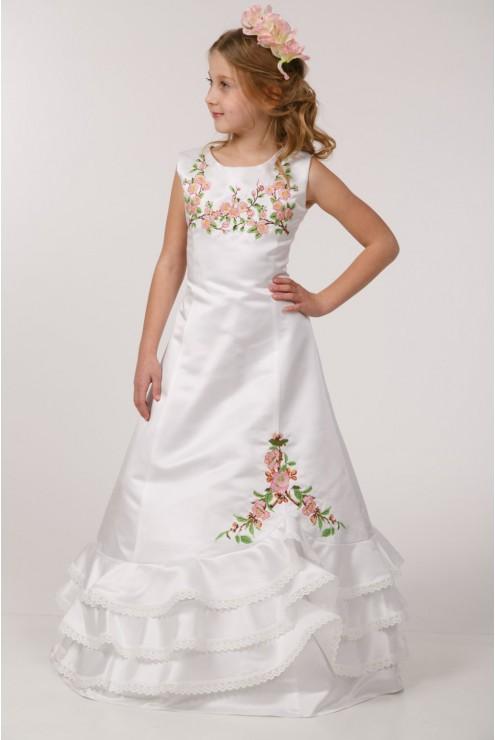 Вишита сукня для першого причастя ПА 19 фото