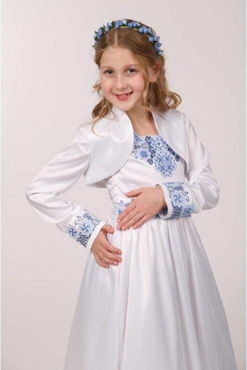 Вишите плаття до першого причастя ПА 22(1) фото