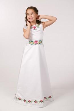 Вышитое платье для 1 причастия ПА 25 фото