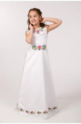 Вышитое платье для 1 причастия ПА 25