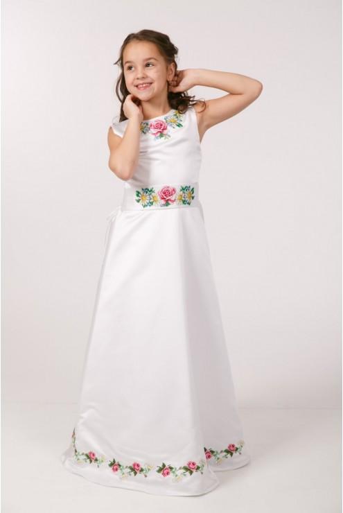 Вишите плаття для 1 причастя ПА 25 фото