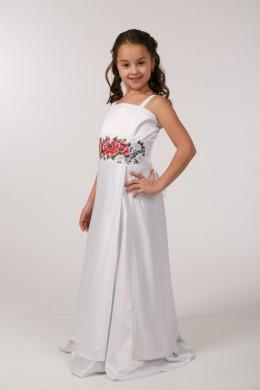 Платье вышиванка для 1 причастия ПА 27 фото