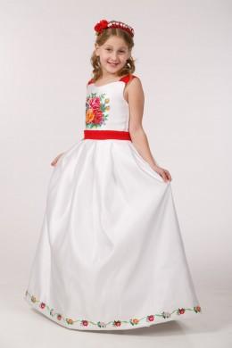 Платье вышитое для 1 причастия ПА 29 фото