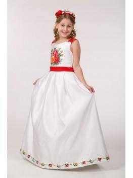 Вишита сукня до 1 причастя ПА 29