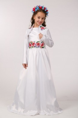 Вишите плаття для 1-о причастя ПА 30 фото