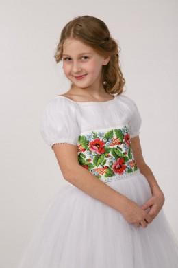 Платье вышиванка для обряда причастия ПФ 14 фото
