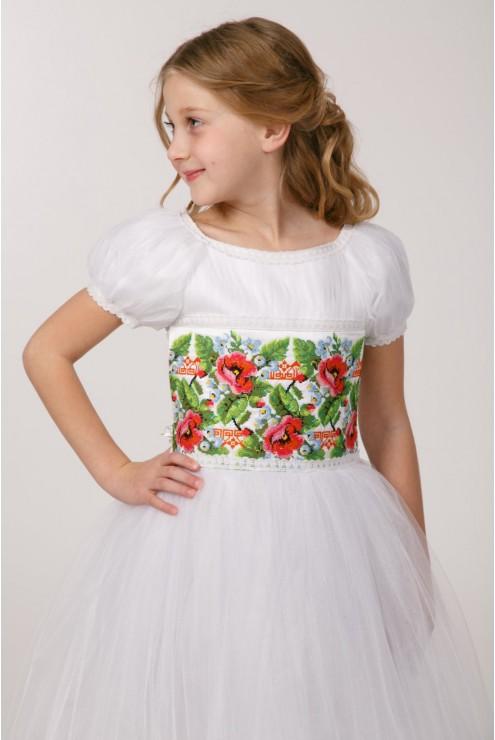 Плаття з вишивкою для причастя ПФ 14 фото