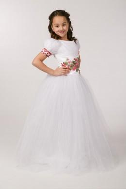Сукня з вишивкою для причастя ПФ 15 фото