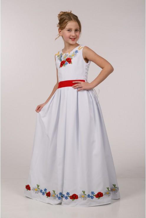 Вишите плаття для причастя ПГ 23 фото