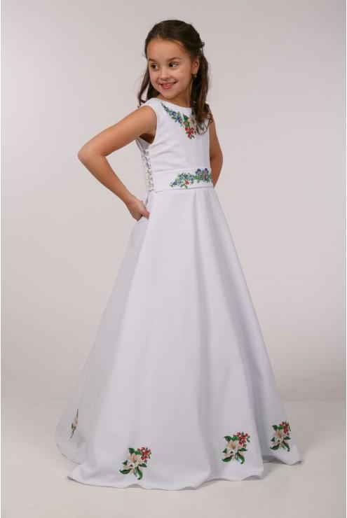Вишита сукня для причастя ПГ 24 фото
