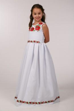 Вышитое платье для обряда причастия ПГ 31 фото