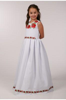 Вышитое платье для обряда причастия ПГ 31