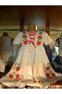 Плаття вишите дитяче Мак фото