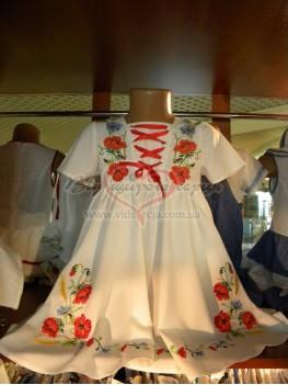 Плаття вишите дитяче Мак
