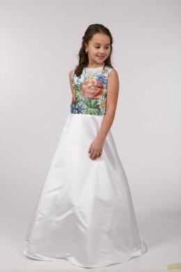 Заготовка для вышивки бисером детского платья ПБ36 фото