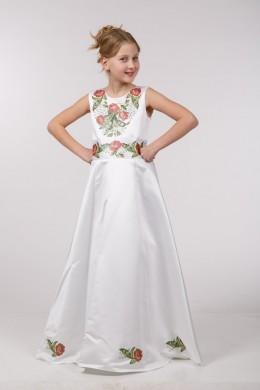Заготовка для вишивки дитячого плаття бісером ПБ37 фото