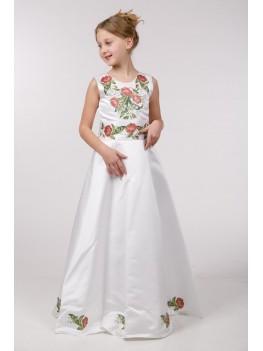 Заготовка для вишивки дитячого плаття бісером ПБ37