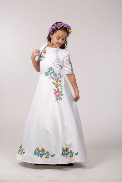 Вышитое платье под заказ ПА06 фото