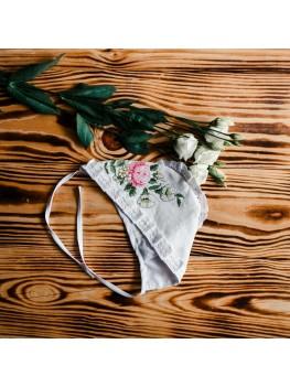 Шапочка для девочки для крещения ХП 01