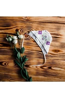 Шапочка для крещения вышитая ХП 05 фото
