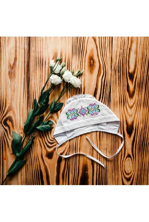 Для дівчинки шапочка для хрещення ХП 06 фото