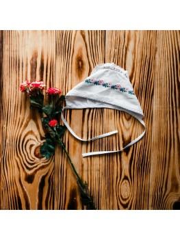 Шапочка для хрещення з вишивкою ХП 10