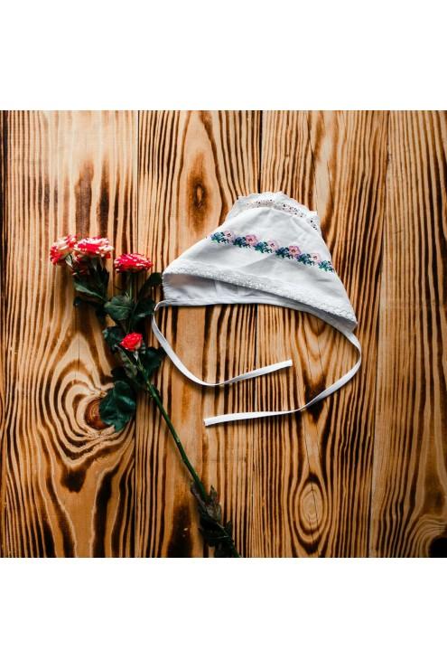 Шапочка для хрещення з вишивкою ХП 10 фото