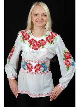 Сорочка з вишивкою Букет маків 35