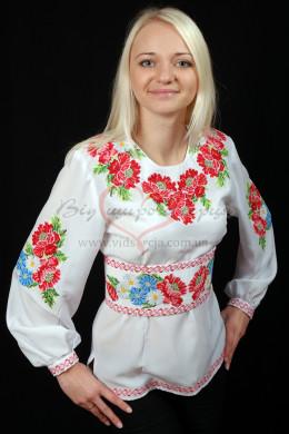 Сорочка з вишивкою Букет маків 35 фото