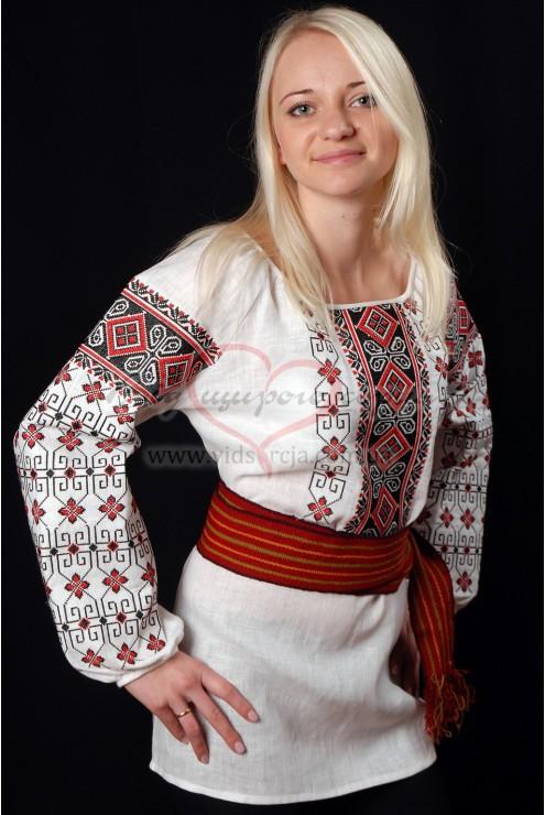 Вишиванка сорочка Червоне та чорне 34 фото